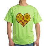 New Mexico Zia Heart Green T-Shirt