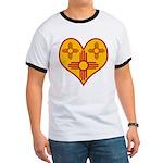 New Mexico Zia Heart Ringer T
