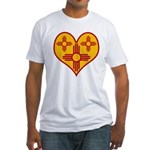 New Mexico Zia Heart Fitted T-Shirt