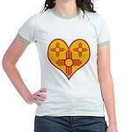 New Mexico Zia Heart Jr. Ringer T-Shirt