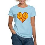 New Mexico Zia Heart Women's Light T-Shirt
