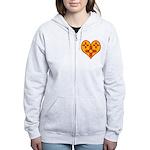 New Mexico Zia Heart Women's Zip Hoodie
