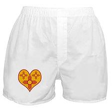 New Mexico Zia Heart Boxer Shorts