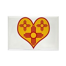 New Mexico Zia Heart Rectangle Magnet