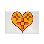 New Mexico Zia Heart Rectangle Magnet (100 pack)
