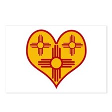 New Mexico Zia Heart Postcards (Package of 8)