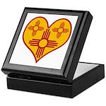New Mexico Zia Heart Keepsake Box