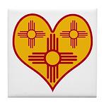 New Mexico Zia Heart Tile Coaster