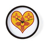 New Mexico Zia Heart Wall Clock
