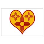 New Mexico Zia Heart Large Poster