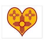 New Mexico Zia Heart Small Poster