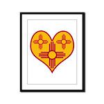 New Mexico Zia Heart Framed Panel Print
