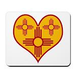 New Mexico Zia Heart Mousepad