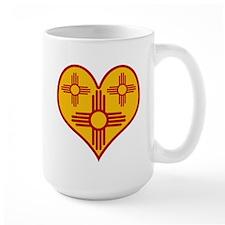 New Mexico Zia Heart Large Mug