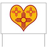 New Mexico Zia Heart Yard Sign