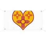 New Mexico Zia Heart Banner