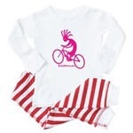 Kokopelli Mountain Biker Baby Pajamas