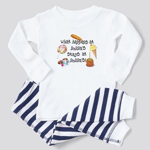 What Happens at Nonna's... Funny Baby Pajamas