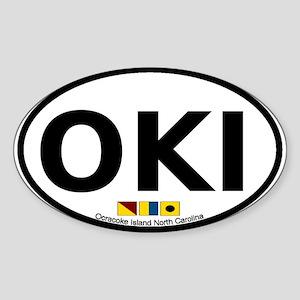Ocracoke Island NC Oval Sticker