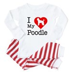I Love My Poodle Baby Pajamas
