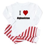 I Love Afghanistan Baby Pajamas