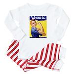 No Burqas Rosie Riveter Baby Pajamas