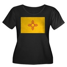 New Mexico State Flag Women's Plus Size Scoop Neck