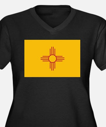 New Mexico State Flag Women's Plus Size V-Neck Dar
