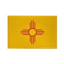 New Mexico State Flag Rectangle Magnet