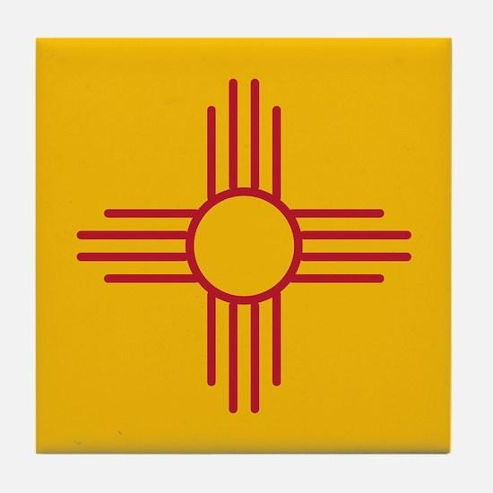 New Mexico State Flag Tile Coaster