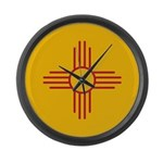 New Mexico State Flag Large Wall Clock