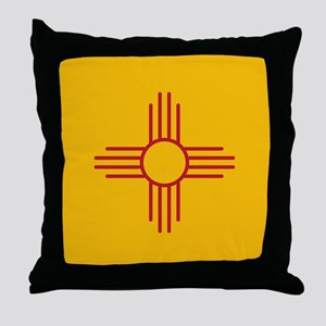 New Mexico State Flag Throw Pillow