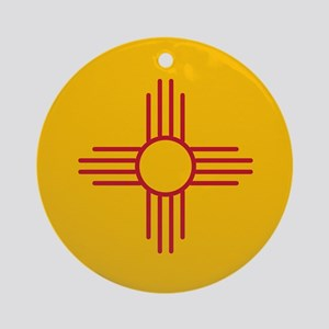 New Mexico State Flag Ornament (Round)