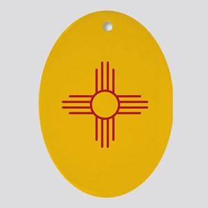 New Mexico State Flag Oval Ornament