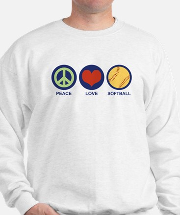Peace Love Softball Sweatshirt