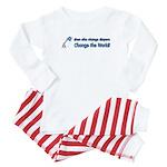 Change Diapers, Change The World Baby Pajamas