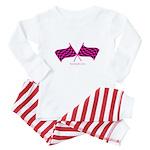 Boostgear's Hot Pink Racing Flags Baby Pajamas