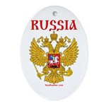 VeryRussian.com Oval Ornament