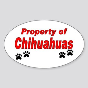 Chihuahuas Prop Oval Sticker