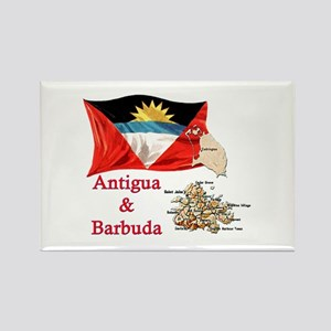 Antiga & Barbuda Rectangle Magnet