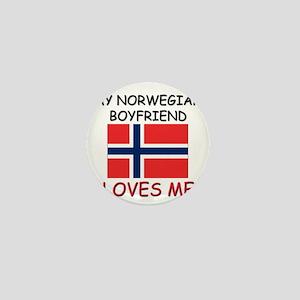 My Norwegian Boyfriend Loves Me Mini Button