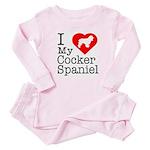 I Love My Cocker Spaniel Baby Pajamas