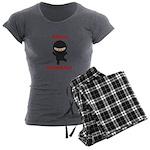 Ninja Biologist Women's Charcoal Pajamas