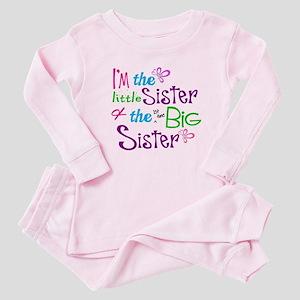 ac97135dd Little Big Sister Baby Pajamas - CafePress
