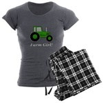 Farm Girl Tractor Women's Charcoal Pajamas