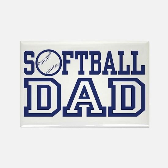 Softball Dad Rectangle Magnet