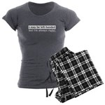 Left-Handed Women's Charcoal Pajamas