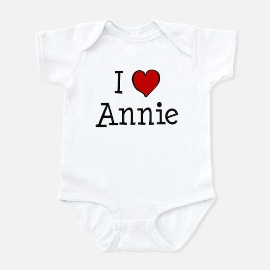 I love Annie Infant Bodysuit