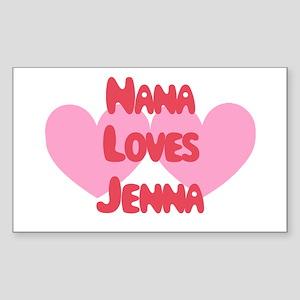 Nana Loves Jenna Rectangle Sticker