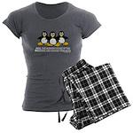 Burning Stare Penguins Women's Charcoal Pajamas